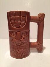 "Island Heritage IH Tiki 6"" Handled Mug Dishwasher Safe, Microwave Safe,  Brown"