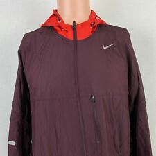 Nike Womens Vapor Running Hooded Windbreaker Jacket Red 404638 656 Size XL