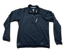 Nike Men's Fit Dry Fleece 1/4 Zip Training Running Size Medium Blue