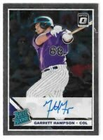 2019 DONRUSS OPTIC GARRETT HAMPSON RATED ROOKIE AUTO #RRS-GH COLORADO ROCKIES