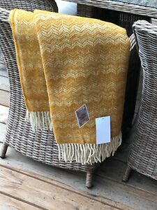 NEW ZEALAND SHEEP WOOL BLANKETS, THROW, PLAID, SIZE 51 x 75 In, ECO WOOL100% NEW