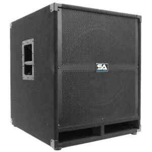 """SEISMIC AUDIO 18"""" PA POWERED SUBWOOFER Speaker Active"""