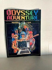 1982 Odyssey Adventure Video Game Magazine Premiere Issue Winter Vol. #1 RARE B3