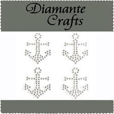 4 x 32mm Clear Diamante Anchors Self Adhesive Craft Rhinestone Gems