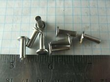 50 Solid Steel 5/32 X 1/2 Sca armor rivets Larp flat head model tank repair