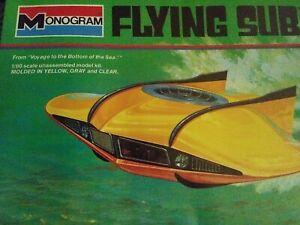 Voyage to the Bottom of Sea FLYING SUB Plastic Model Kit Monogram NIB 1995