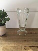 Vintage Root-Beer Milkshake Pedestal Glass, Mid Century Kitchenware, 50s Glass