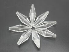 "30 Clear Acrylic Transparent Faceted Double Cone Long Bicone Beads 36mm(1.3"")"