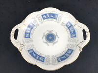COALPORT White /Blue  9.5'' Nut & Candy Serving Dish China Made in England