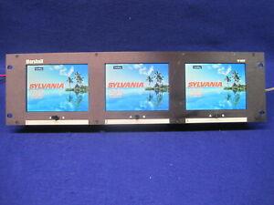 "Marshall Electronic VJ-563P Triple 5.6"" LCD Video Monitor, 6 inputs, functional"