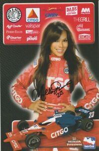 2009 Milka Duno signed Citgo Honda Dallara Indy Car postcard