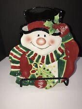 Fitz And Floyd Christmas Snowman Plate
