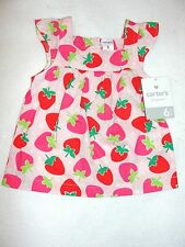 Infant Girls Carter's Pink Sleeveless Top - Size 6 mos. - NWT