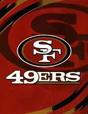 "NFL Football San Francisco 49ers 84"" x95"" Royal Plush King Size Luxury Blanket"