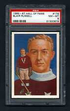 PSA 8 BLAIR RUSSELL 1985 HALL OF FAME HOCKEY CARD #178