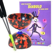 Noir / Rouge Jester Diabolo + métal aluminium handsticks + DIABLO Livre + string