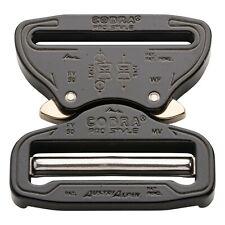 "AustriAlpin 50mm 2"" Black Cobra Buckle - Male Adjustable Female Fixed Fc50kvf"