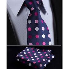 hommes fête à pois cravate rose vin argent base bleue cadeau gratuit mouchoir