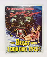 The Beast With 1,000,000 Eyes Metal Sign Desperate Enterprises Made In USA #1678