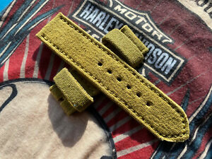26 mm handmade rolled canvas watch strap .UK Infantry.Vintage .Fits Panerai 47