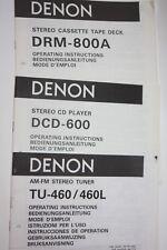 Denon Bedienungsanleitung   DCD-600 cd player   Manual mode d'emploi
