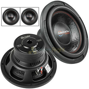 """2 Pack American Bass XD-1244 12"""" Subwoofer Dual 4 Ohm 1000 Watts Max Car Audio"""