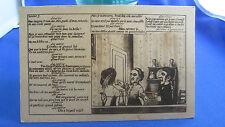 cpa illustrateur fantaisie  marionnette guignol lyon louise 7 chez gnafron