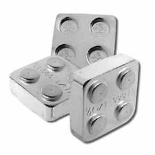 4 - 1/4 oz. 999 Fine Silver Building Block Bars (2X2) - Connect Blocks Together