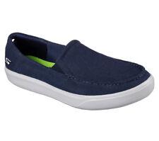NEU SKECHERS Herren Canvas Sneakers Slipper Loafer GO VULC 2 - CHILL OUT Blau
