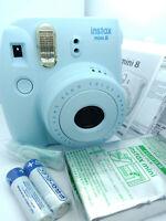 Fujifilm Instax MINI 8 Instant Camera - BLUE - with 10 shots Film Pack - NEW