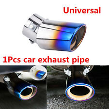 Universal 1Pcs Bend Stainless Steel Car Oval Round Exhaust Pipe Tail Muffler Tip