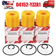 Genuine For Toyota Lexus Scion Oil Filter Set Of 3 Packs Oem 04152-Yzza1