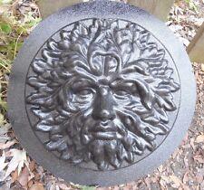 greenman face plaster concrete mold casting garden plaque mould