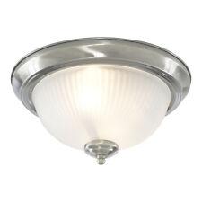 Searchlight Traditional Bathroom Chrome Glass Flush Ceiling Mount Fitting Light