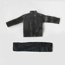 "1/6 Scale Black faux Leather Jacket and Pants Model Set For 12""Action Figure Ken"