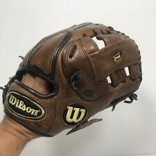 "Wilson RHT A1000 1430 11.25""  Vortex Leather Baseball Infielders Glove Brown"