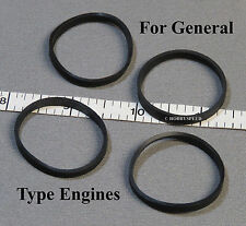 LIONEL TRACTION WHEEL TIRES SET for GENERAL western o gauge engine 4 PACK G NEW