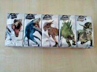 Fazzoletti da collezione JURASSIC WORLD, gadget Jurassic Park, 10 pezzi