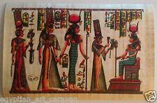 Papyrus Painting From Egyptian Art Caravan of Nefertari and her Goddess