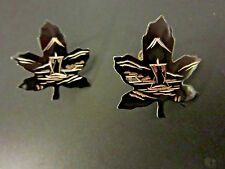 Amita Japan Sterling Silver Maple Leaf Black Etched Boat Screw Back Earring