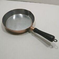 Antique Revere Copper 7� Skillet Fry Pan with Wood Handle Rome, Ny Usa