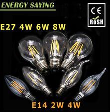 E27 E14 2W/4W/6W/8W LED Retro Edison Filament Filamento Bombilla Vela Light 220V