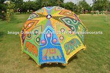 """Indian Hippie Embroidery Patio Garden Umbrella Large Sun Shade Beach Parasol 72"""""""