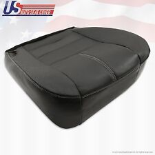 2009 Ford F-450 F-550 Lariat Driver Bottom Replacement Leather Seat Cover Black