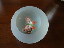 Fred WILKERSON Studio Art Glass Faceted Frosted BUTTERFLY Paperweight