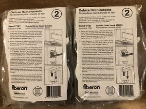 (LOT OF 2) Fiberon White Deluxe Rail Brackets Item # 7191