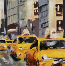 New York Taxi 6 by Robert Seguin Art Print NYC Cityscape City Poster 26x26