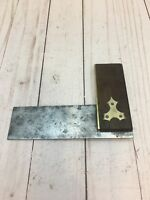 "Vintage Marples 6"" Brass Wood Handle Try Square Uk"