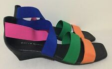 Django  & Juliette Size AU 11 / EUR 42 Colourful Elastane Open Toe Flats Sandals