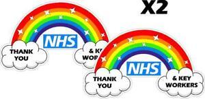 THANK YOU NHS rainbow sticker  - car or window vinyl stickers